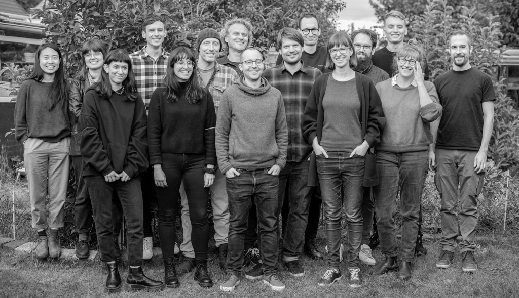 A group photo of the Datawrapper team in August 2021.